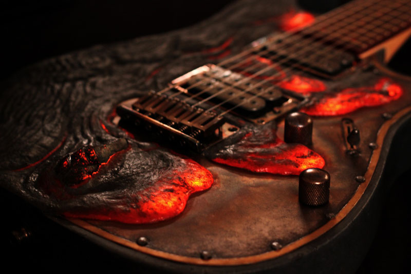 lava electric guitar
