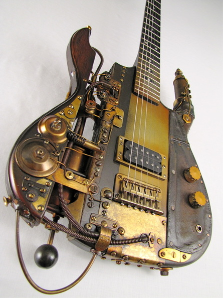 boostercaster steampunk guitar